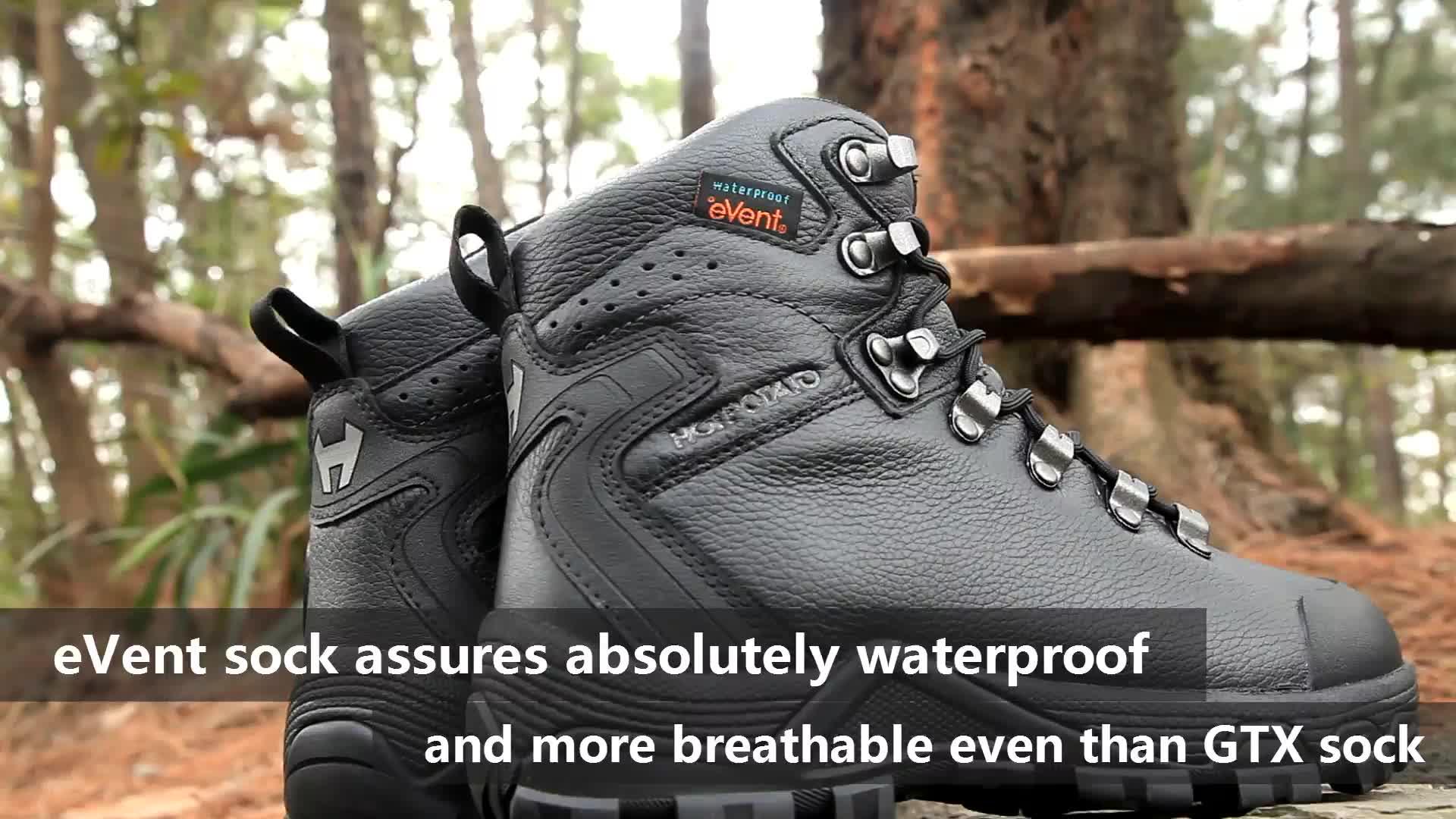 Pro evento isolado à prova d' água montanhismo bota de trekking botas lite unisex bronzeado