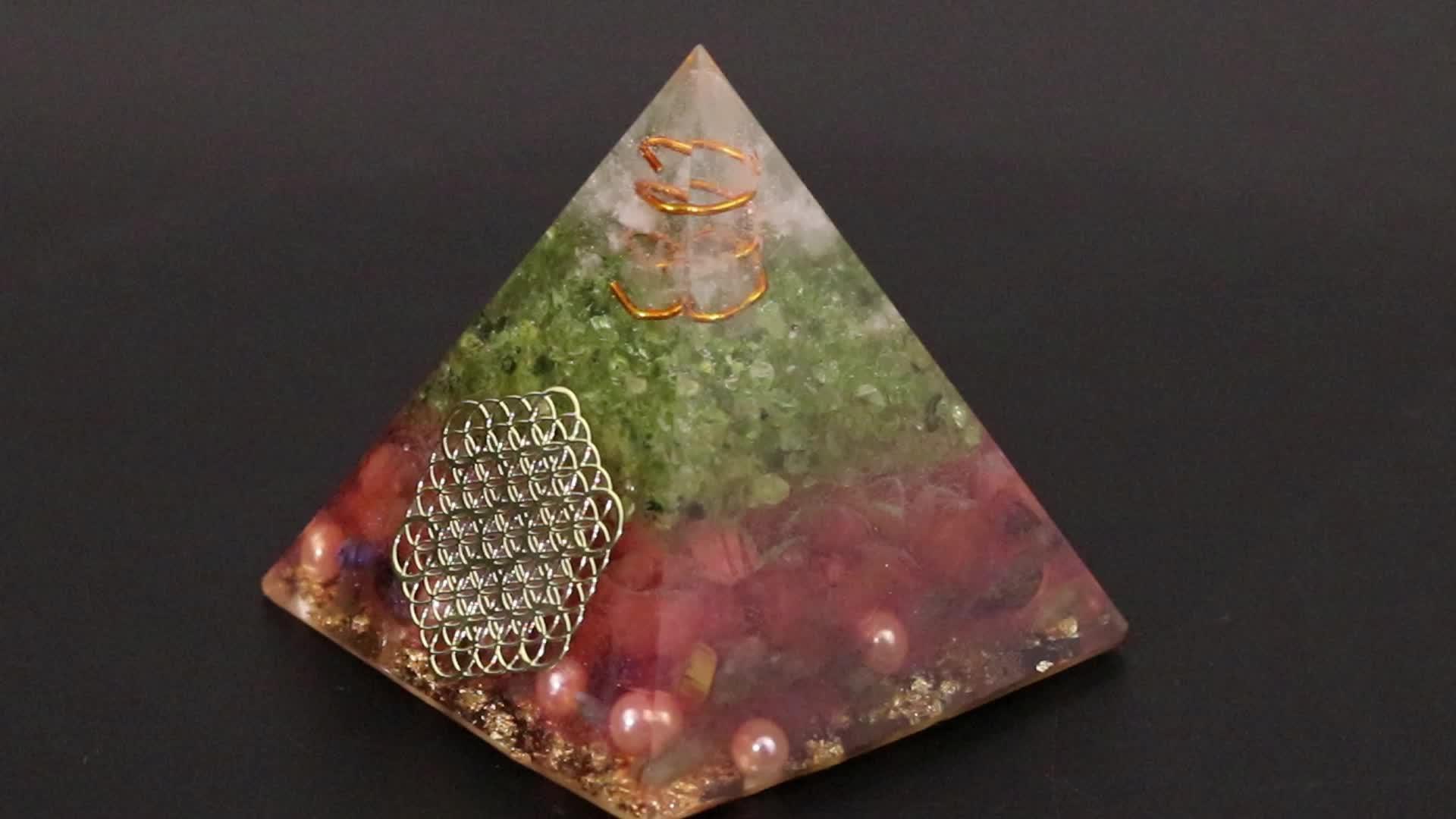Orgonite Aura Высокая Частота энергии Пирамида помогает любовь бизнес успокоить душу Йога Медитации украшения подарок
