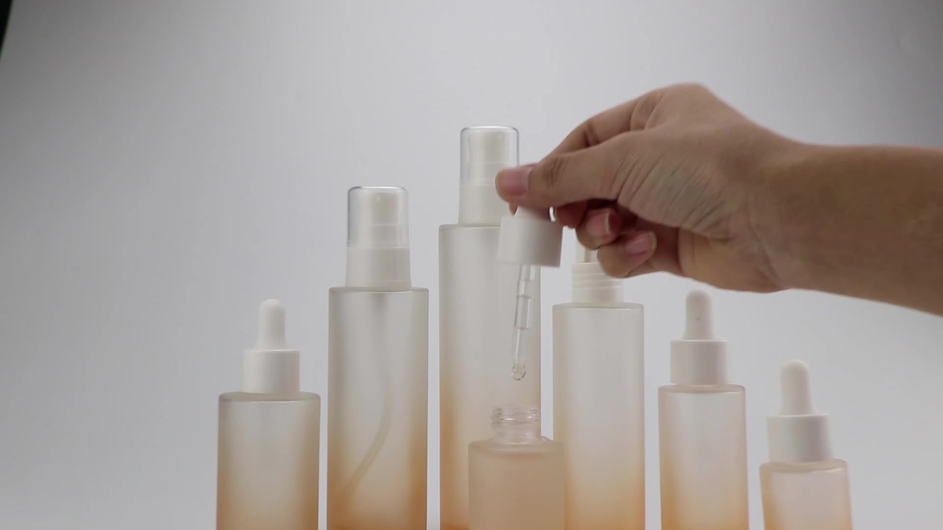 10ml 20ml 30ml botellas cuentagotas de vidrio ámbar botella de aceite esencial personalizar 30ml 50ml Frosted Cosmetic Bottle