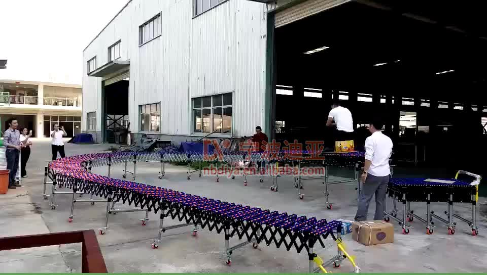 DY19 ABS  plastic gravity roller conveyor ,expandable flexible roller conveyor price