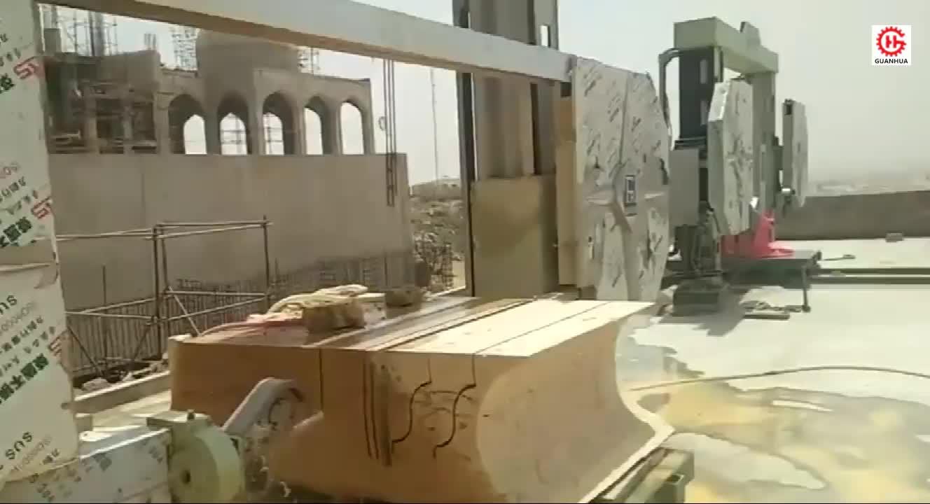 หิน Machinery GHSJ-2000/3000 CNC ลวดเครื่องเลื่อยสำหรับหินแกรนิตหินอ่อน Shaping