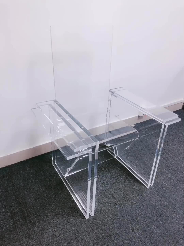Kunststoff acryl stuhl