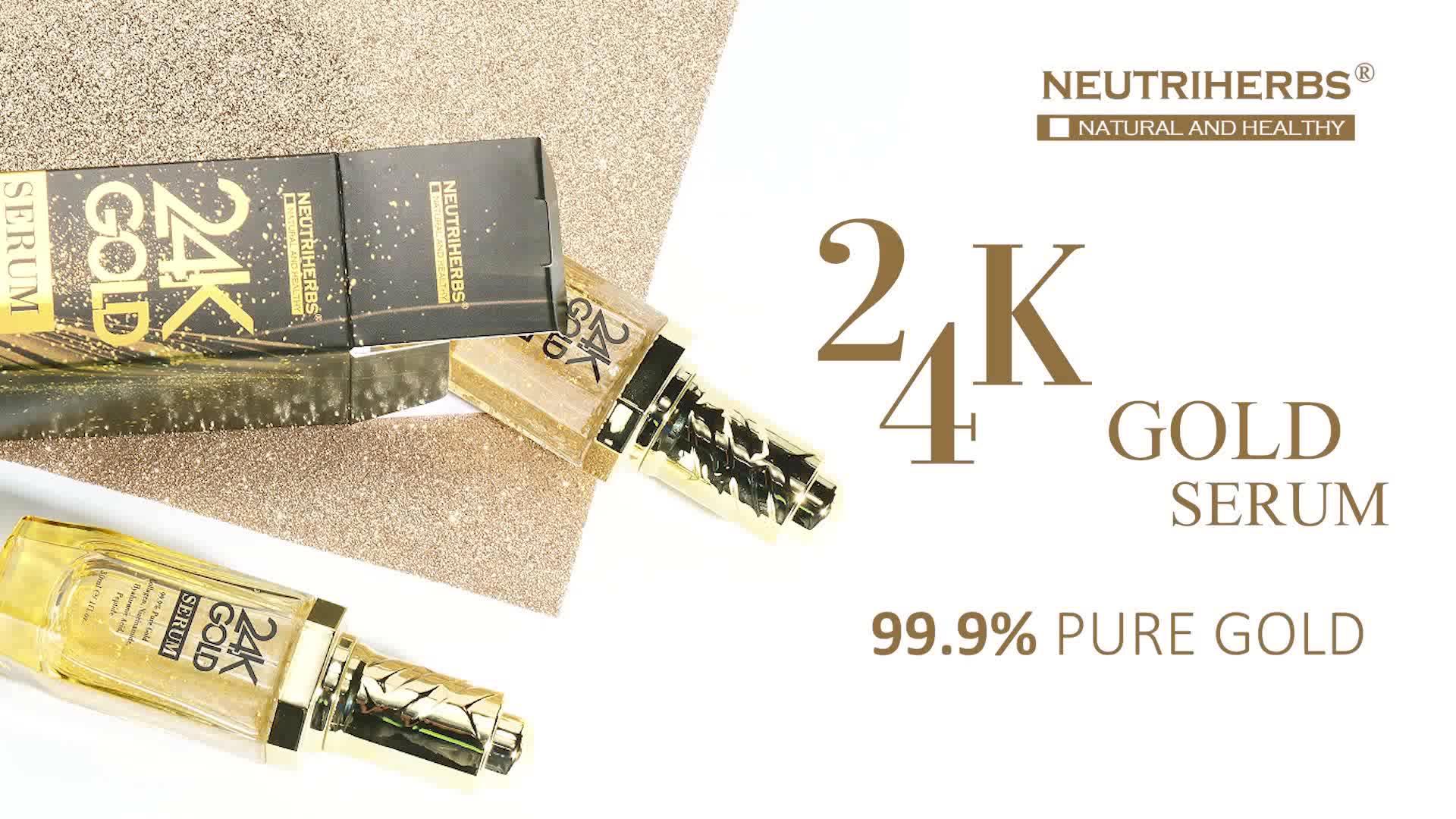 Alta calidad coreana Facial escamas líquido 24K activa Caviar arrugas oro suero