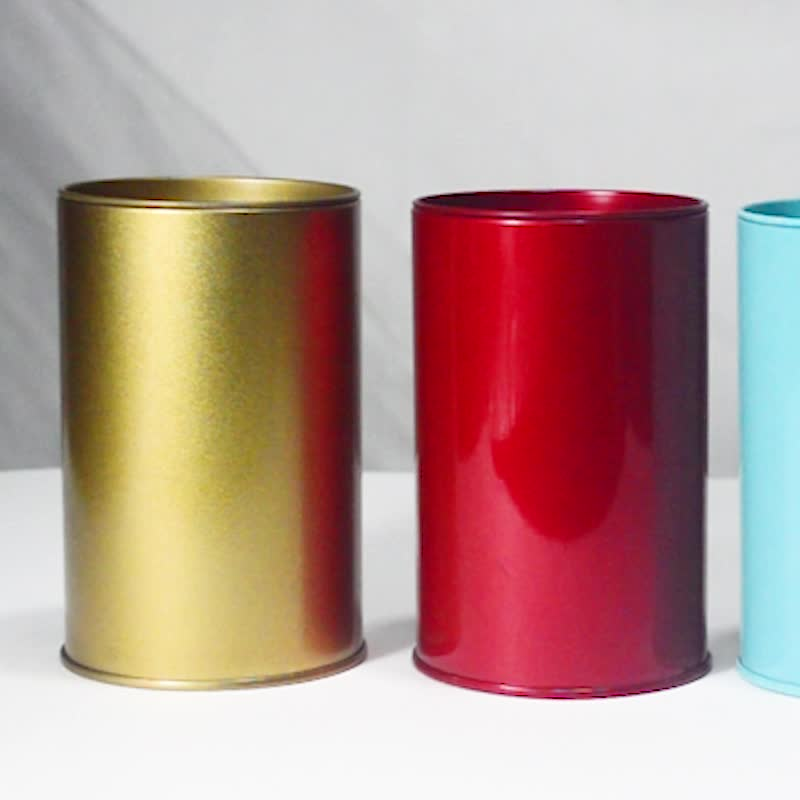High quality 5 Colors  Cylindrical and Tin Material  Save Money Bank Round Shape Tin Can