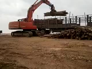 Bagger Hydraulische greifer für sägewerk