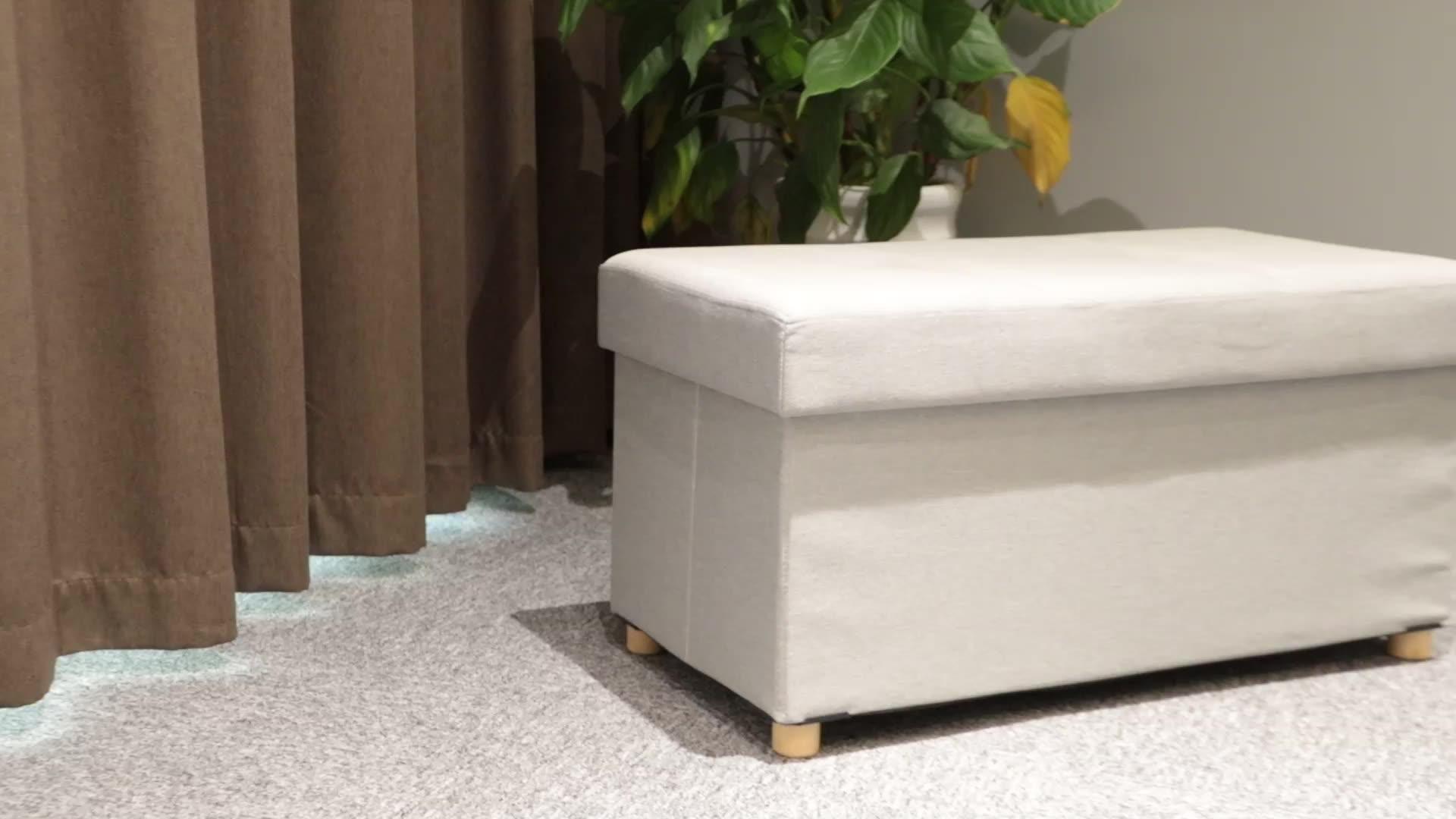 Room bench folding storage seat ottoman with box