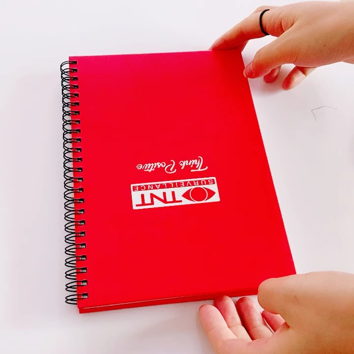 Fancy High End Popular Custom Removable Spiral Bound Notebook