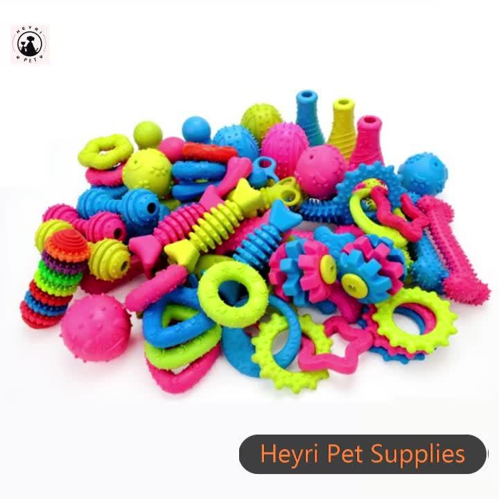 Hot vender 24models osso dentes da forma de limpeza cão TPR brinquedo do animal de estimação do filhote de cachorro mastigar ossos brinquedos, eco friendly pet TPR durável cão mastigar brinquedos