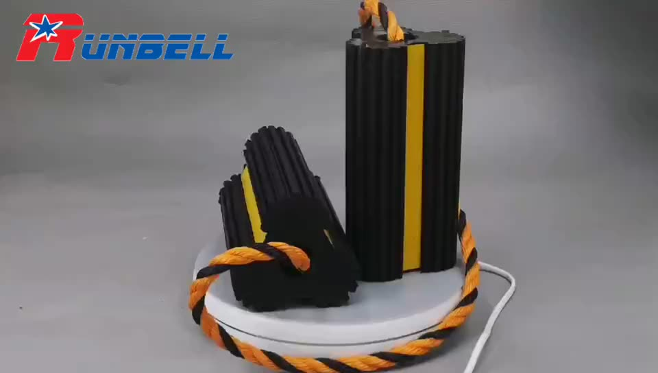 Rubber Aircraft Wheel Chock for heliports