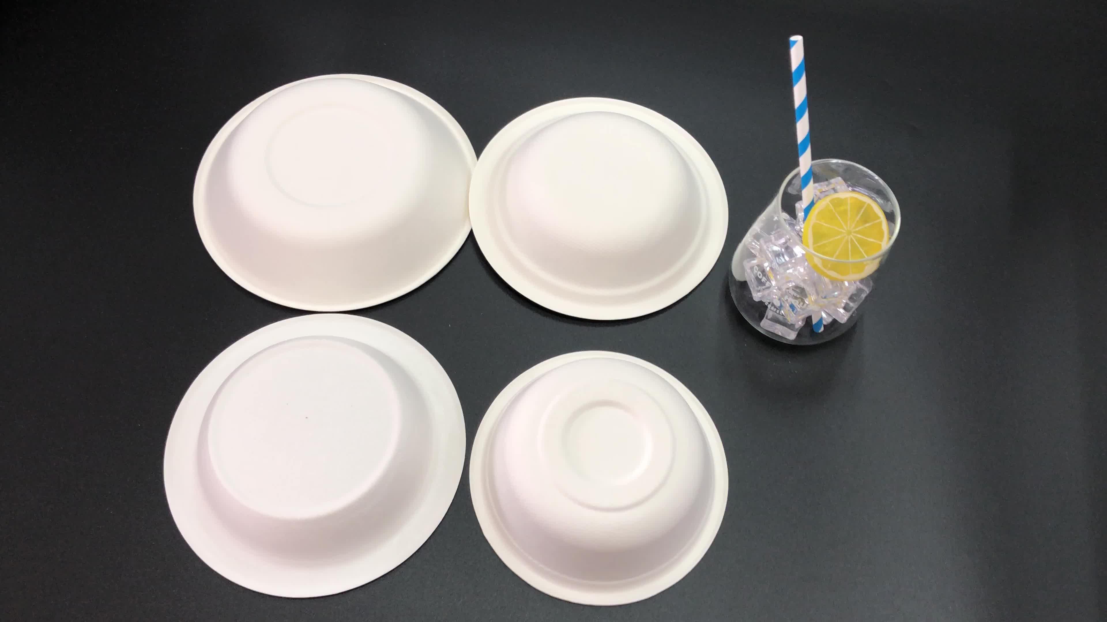 سماد المتاح الميكروويف آمنة سلطة السلطانيات تفل قصب السكر السلطانيات أدوات مائدة هشة عاء ل الطعام الساخن