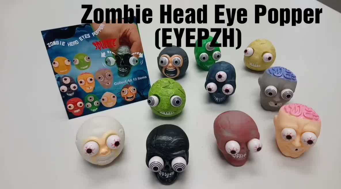Promotional Gift Halloween Zombie Eye Popping Pop Out