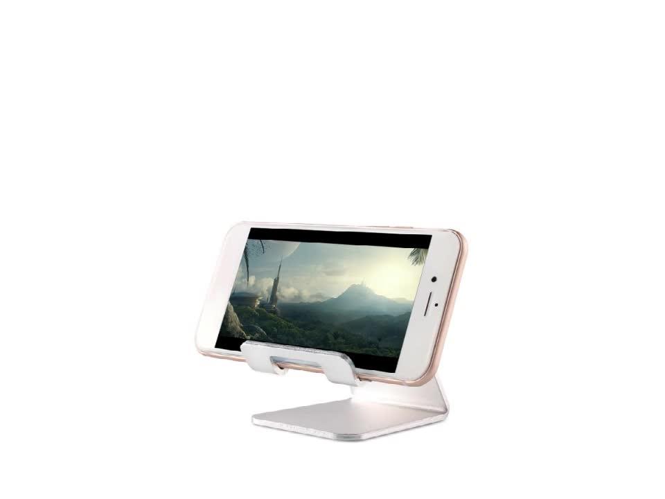 Di alluminio Del Telefono Delle Cellule di Supporto Da Tavolo Supporto Da Tavolo Portatile Solido Universale Supporto Da Tavolo per il Telefono Mobile Tablet Display Stand