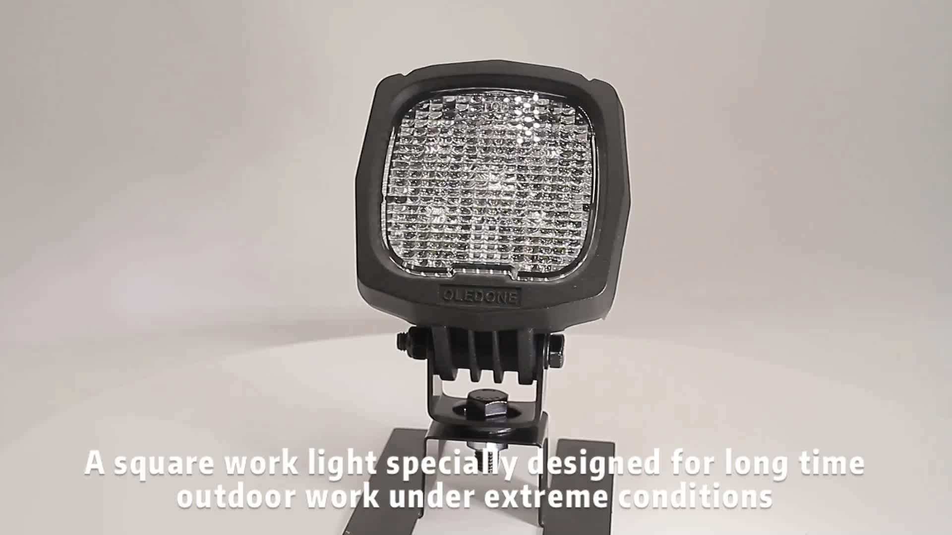 Oledone 10-60V 젖빛/확산 렌즈 광장 작업 빛 내장 극단적인 내구성을 트랙터 농업