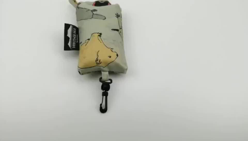 Fashion customizable Nylon Foldable Hand Travel waterproof Bag Animals