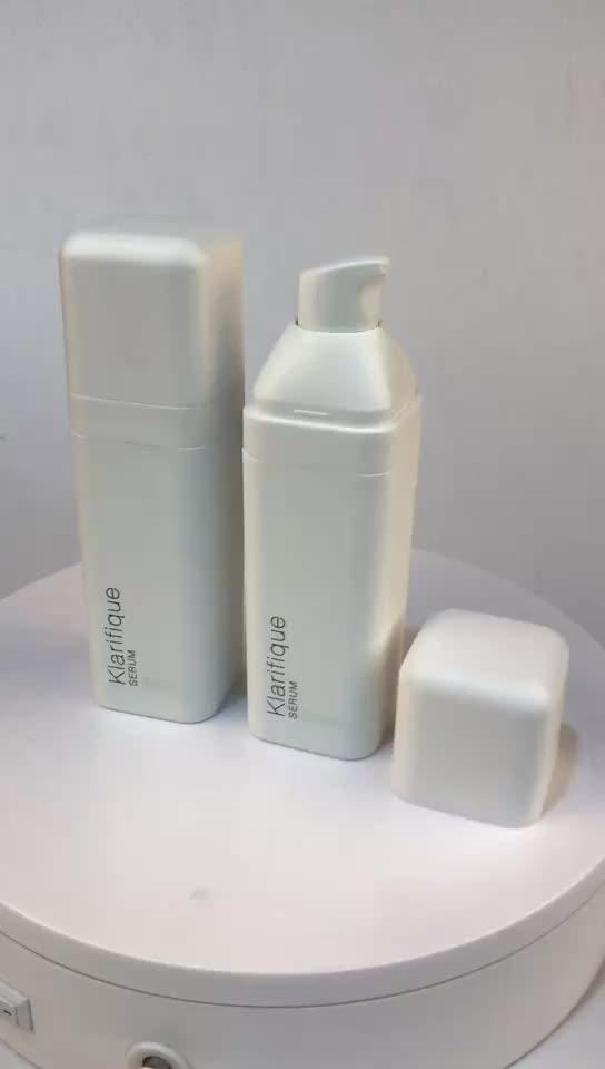 30 ミリリットル白スクエアプラスチック化粧品ローションポンプエアレスボトル