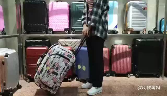 Bagages de voyage chine chariot sacs fabricant 4 roues valise souple lot de 2 haute qualité polyester bagage à main