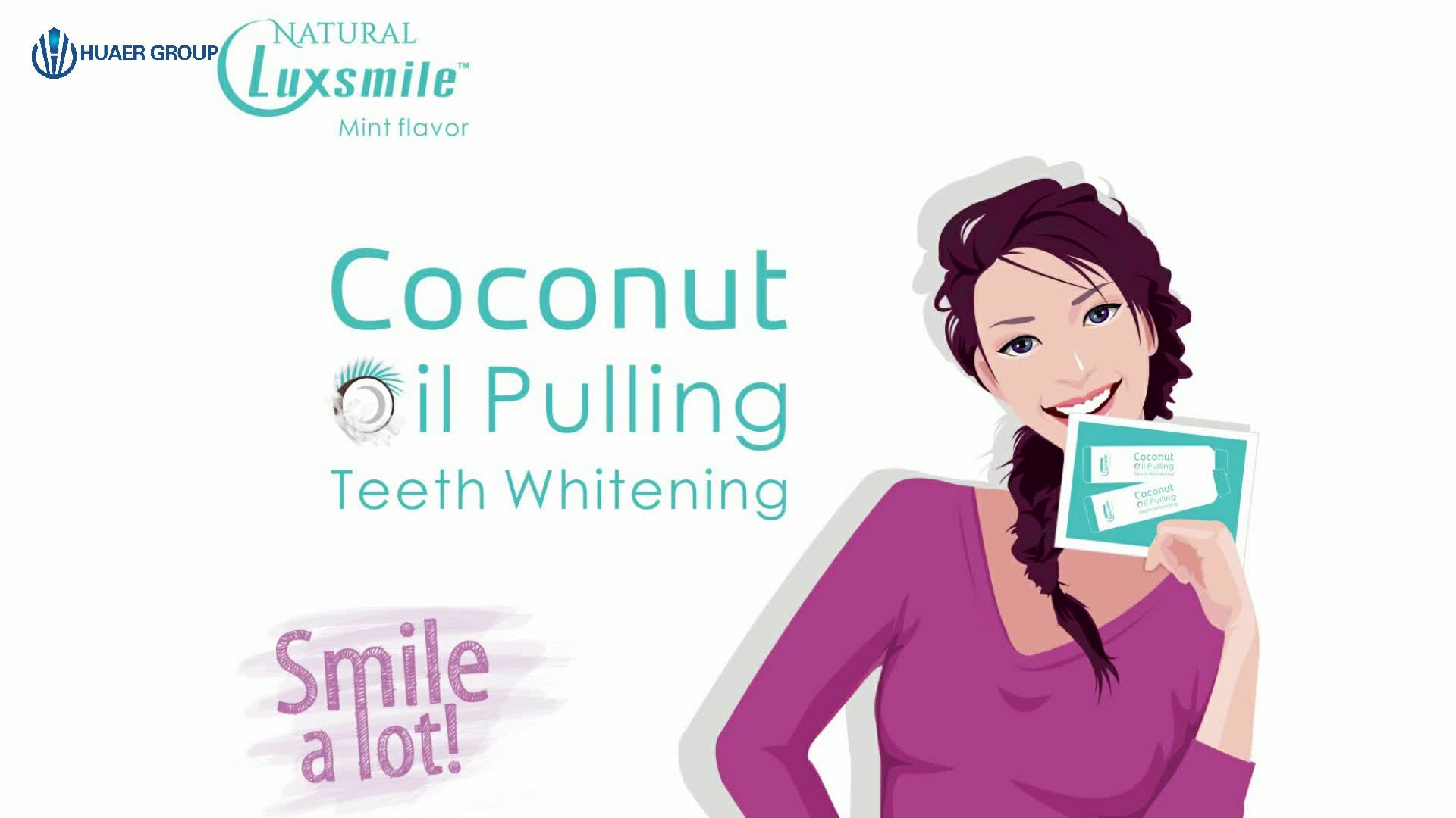 Huaer 100% Natural Mint Coconut Oil Teeth Whitening Mouthwash