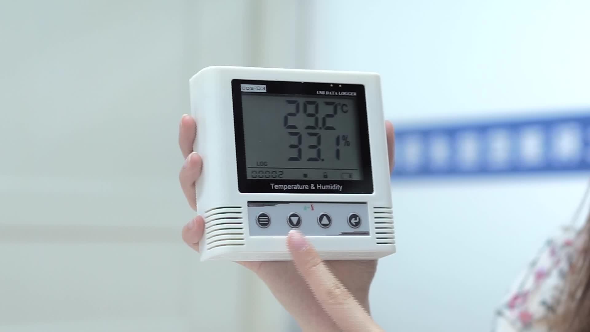 Digital temperature and humidity data logger