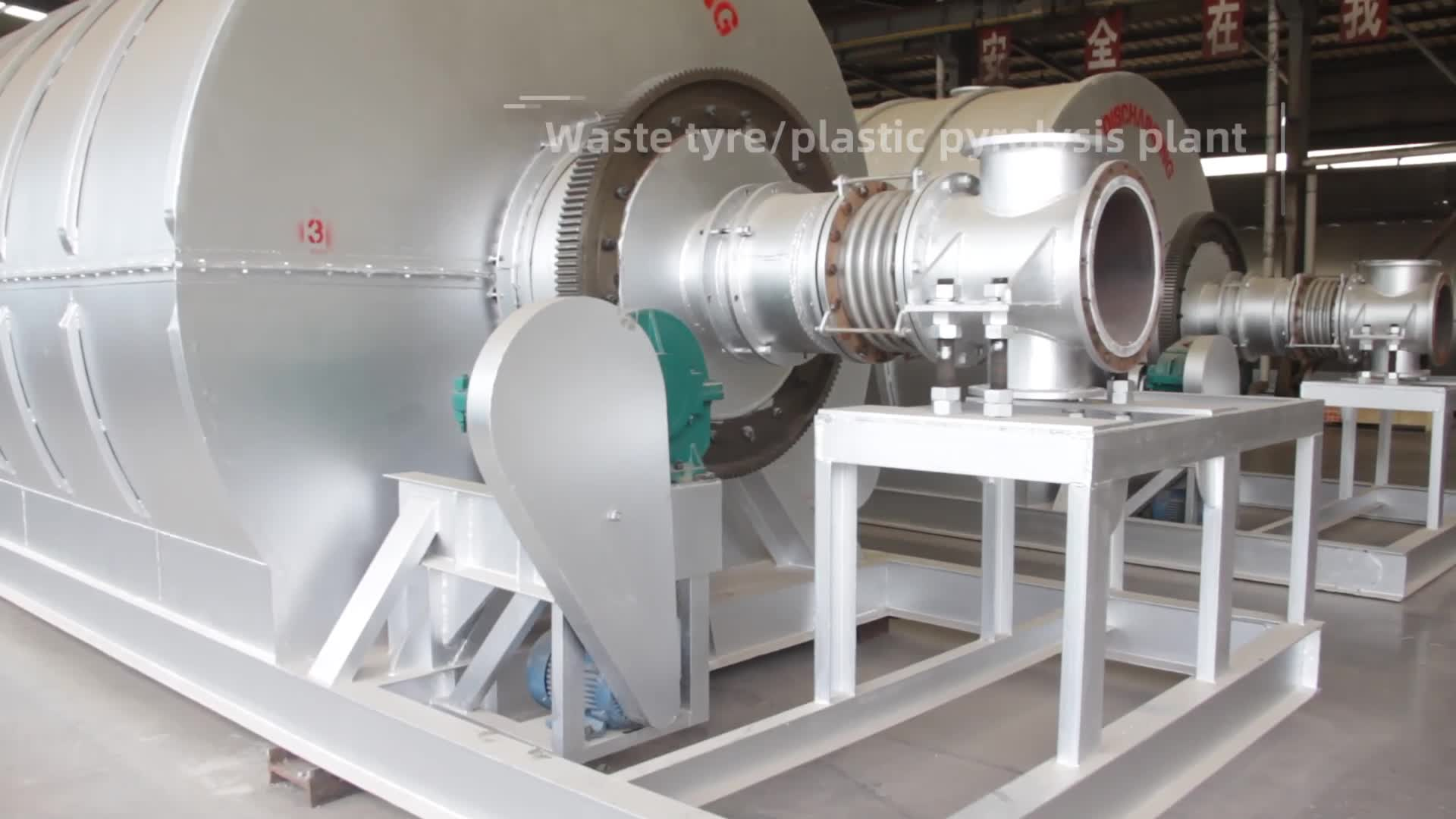 Impianto di pirolisi dei rifiuti di plastica PP PE PS in comune dei rifiuti solidi