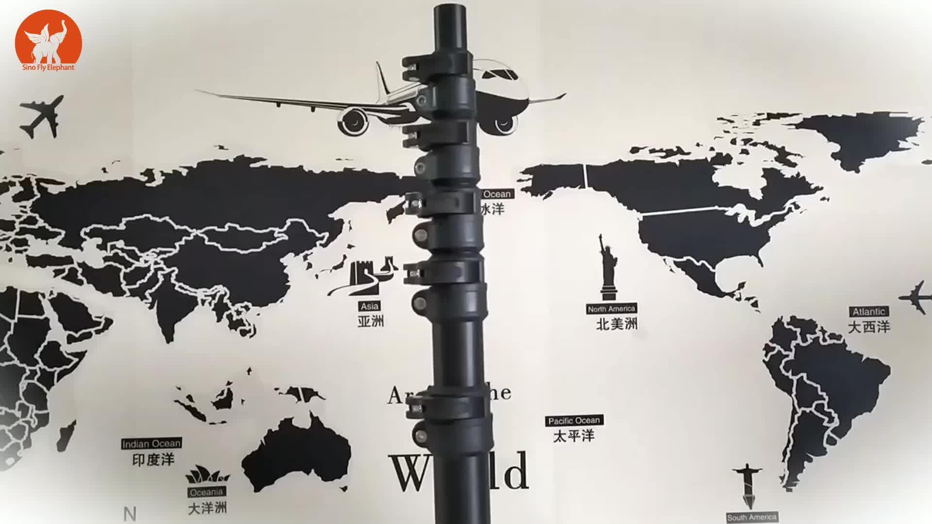 Personalizado de alta qualidade da fibra do carbono bloqueio tubo telescópico