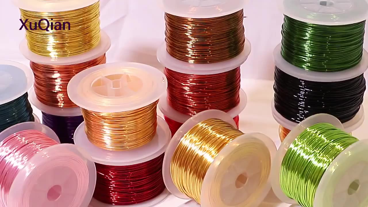 XuQian 0.5mm Gold 925 Silver Plated Hard Copper Jewelry Wire Wholesale In China Supplier