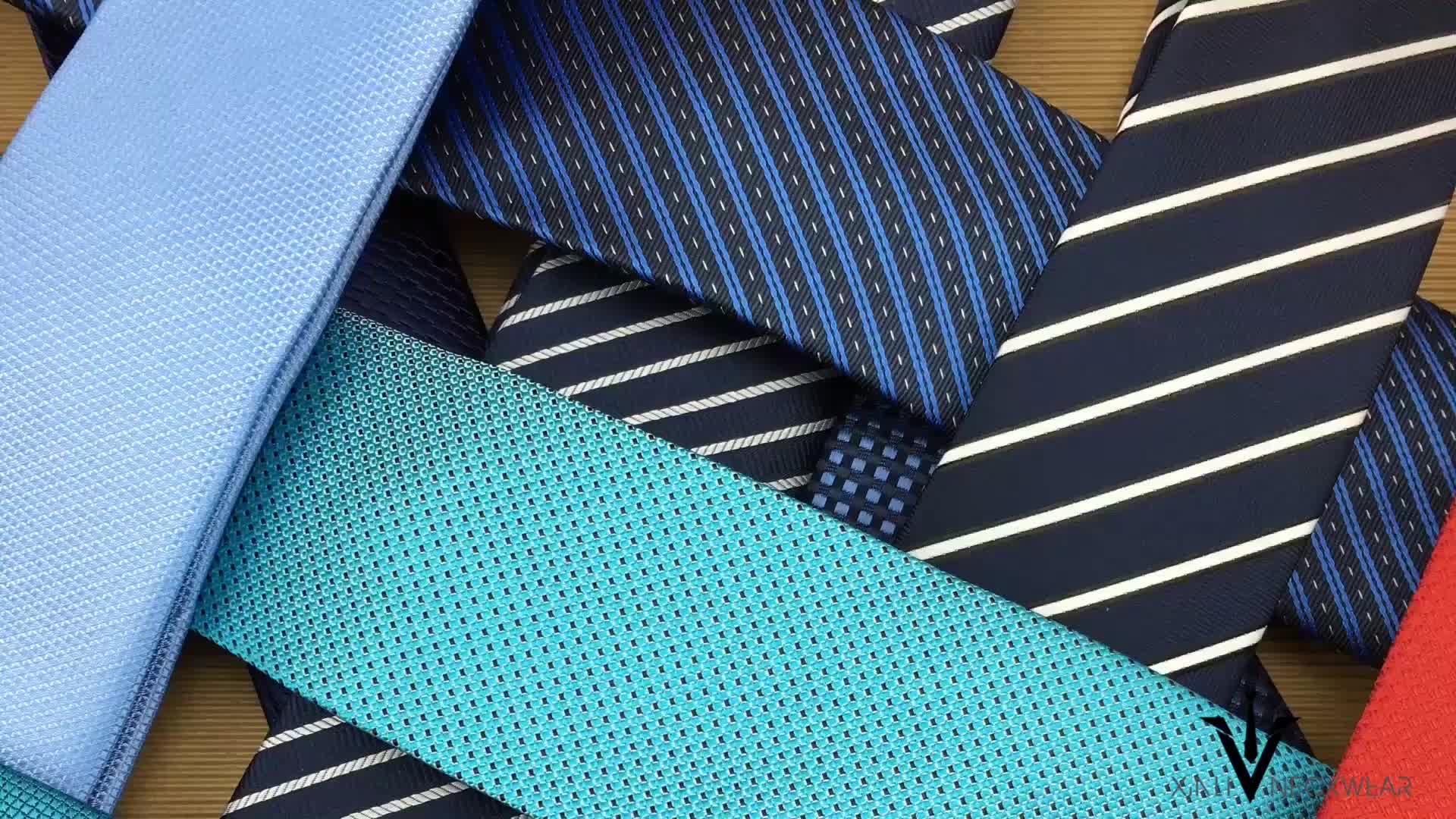 Men's Fashion Business Polyester Woven Navy Blue Stripe Polka Dot Tight Casual Skinny Narrow Novelty Slim Ties Men