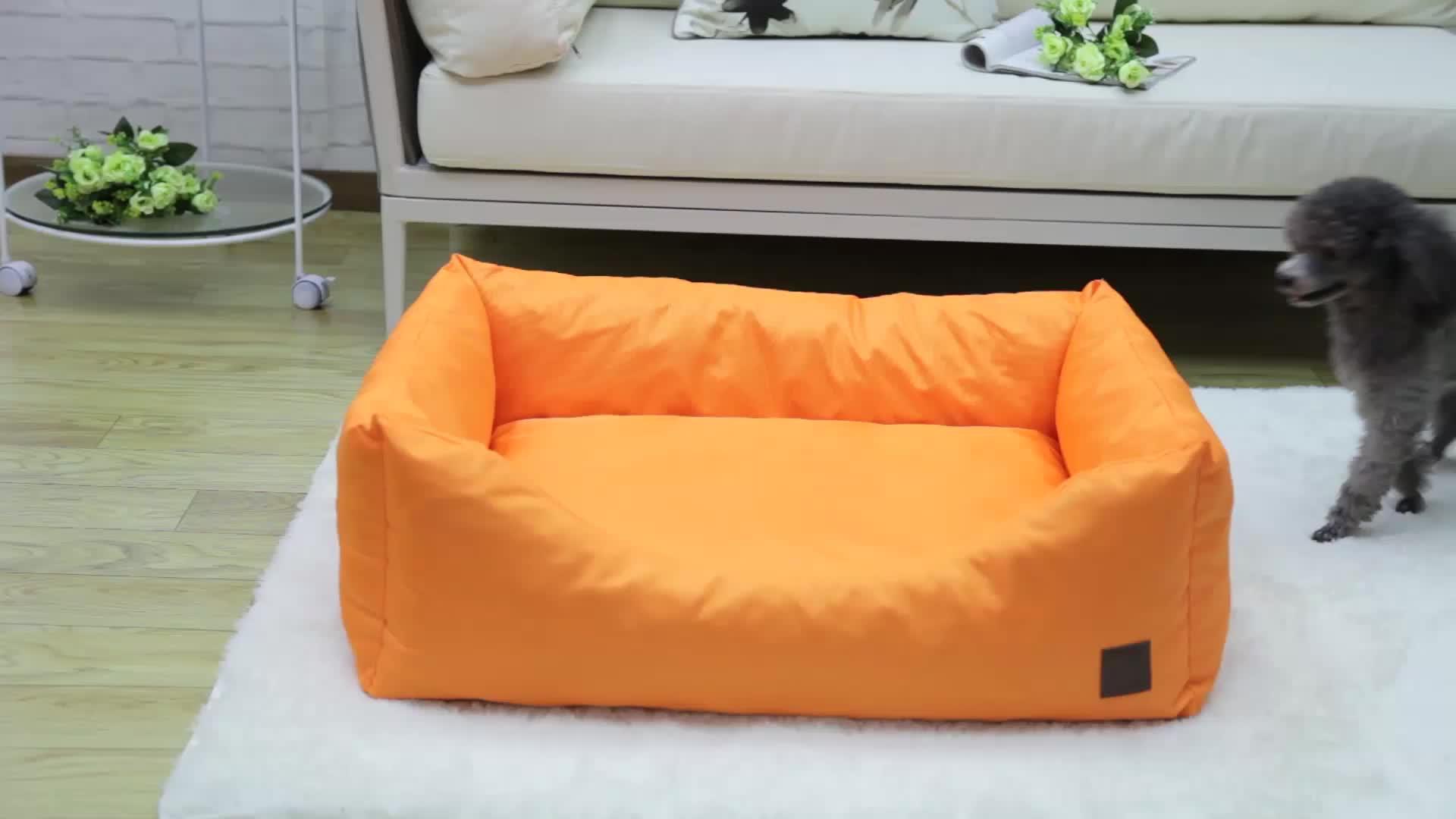De mimbre cama del perro suave de espuma de memoria cama para perro con desmontable funda lavable