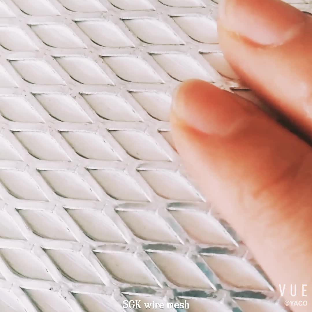 1.2mm thickness 4x8mm hole Aluminum Mesh Gutter Guards