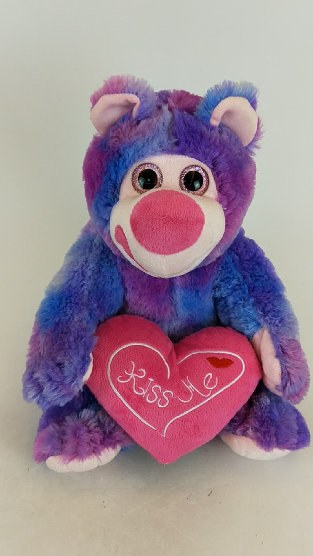 Manufacturer's custom plush toy valentine's day gift stuffed plush bear with  heart