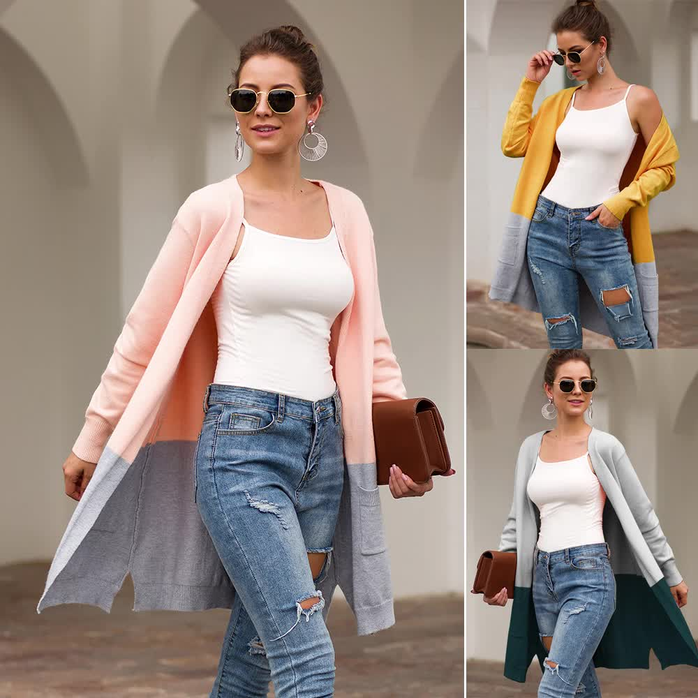 two colour women long cardigans sweater design ugly christmas oversized cardigan sweaters for women