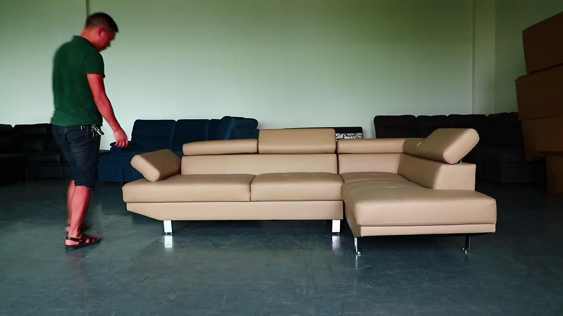 आधुनिक डिजाइन कोने सोफे एल आकार अनुभागीय