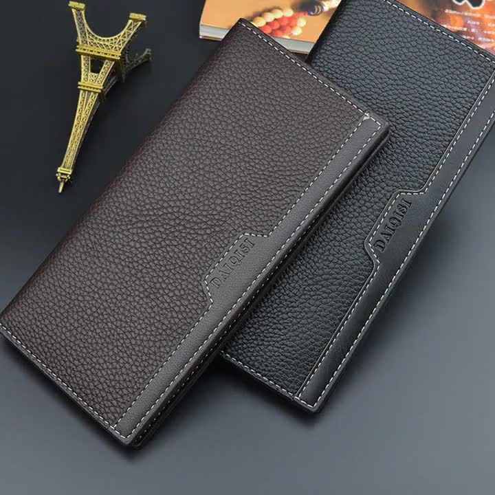 Men's wallet men's Long Wallet youth leisure more than 30% multi card space large capacity simple thin soft Wallet