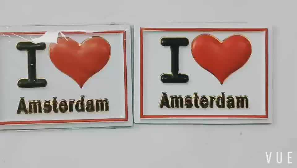 wholesale promotional oem hot stamping PVC 3D embossed spain fridge magnet