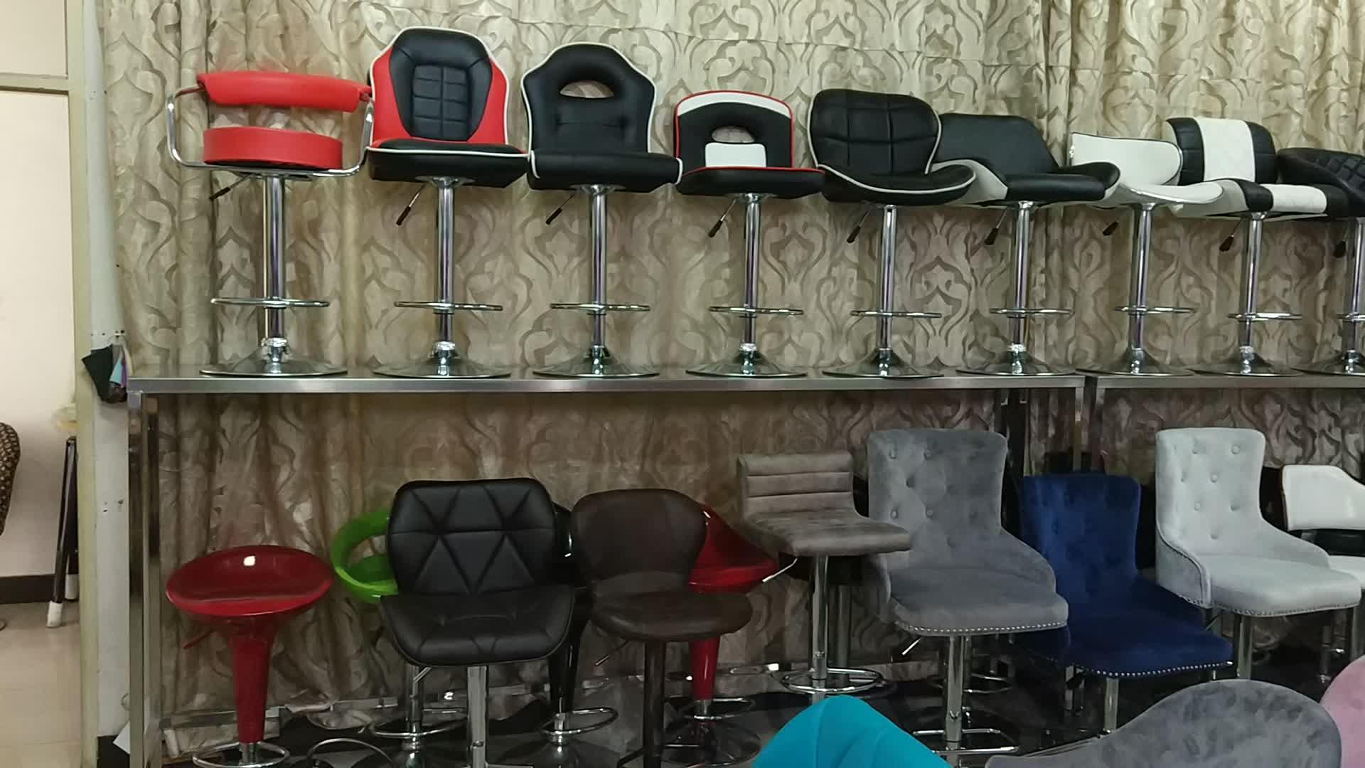 Удобные YIBO Лидер продаж мягкие ПУ кожаные стулья для отдыха вращающиеся из нержавеющей стали