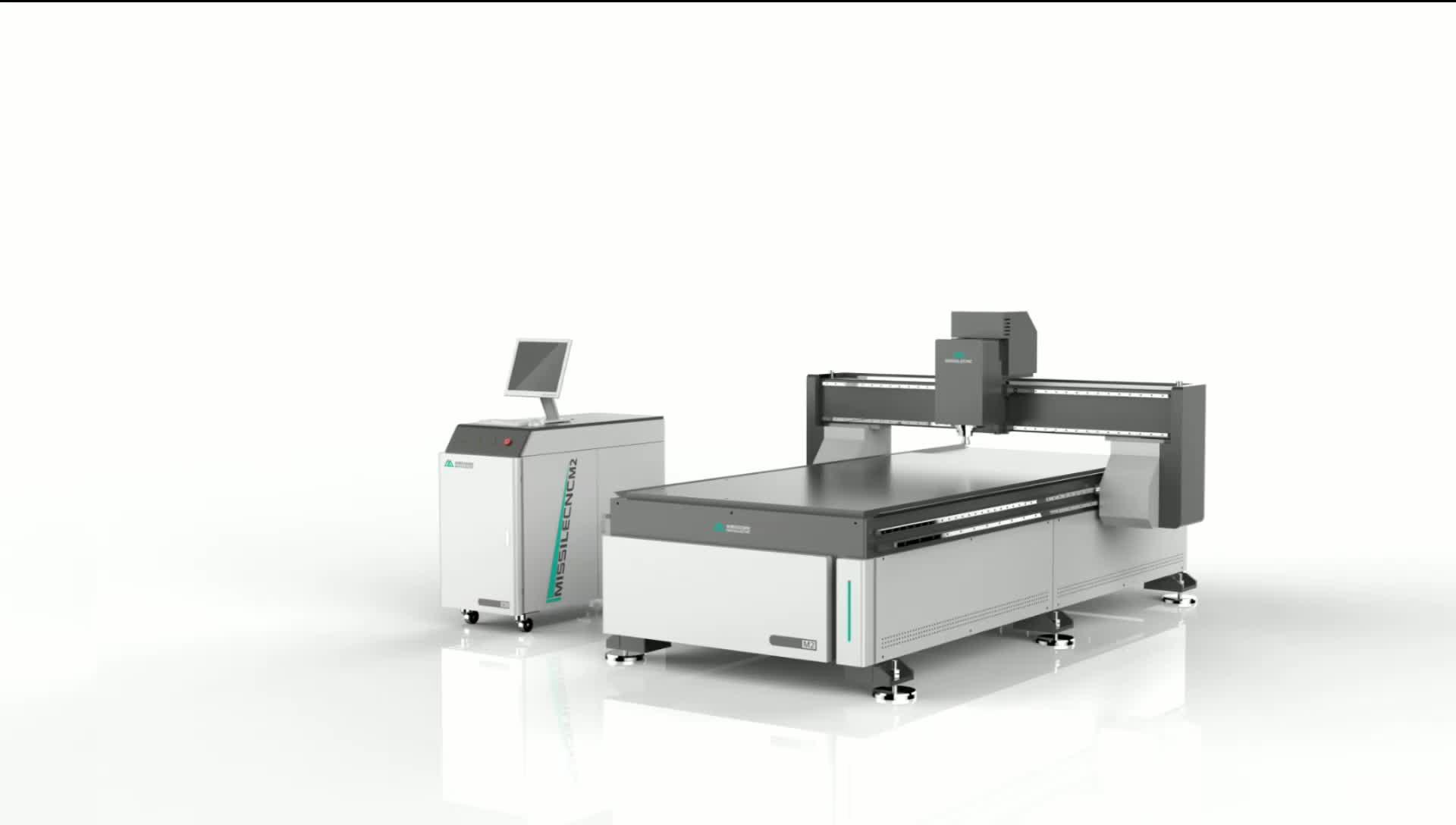 2019 ใหม่รุ่น M2 สำหรับตัดอะคริลิคขัดเงาผลลัพธ์ Adverting ไม้ CNC Router Machine