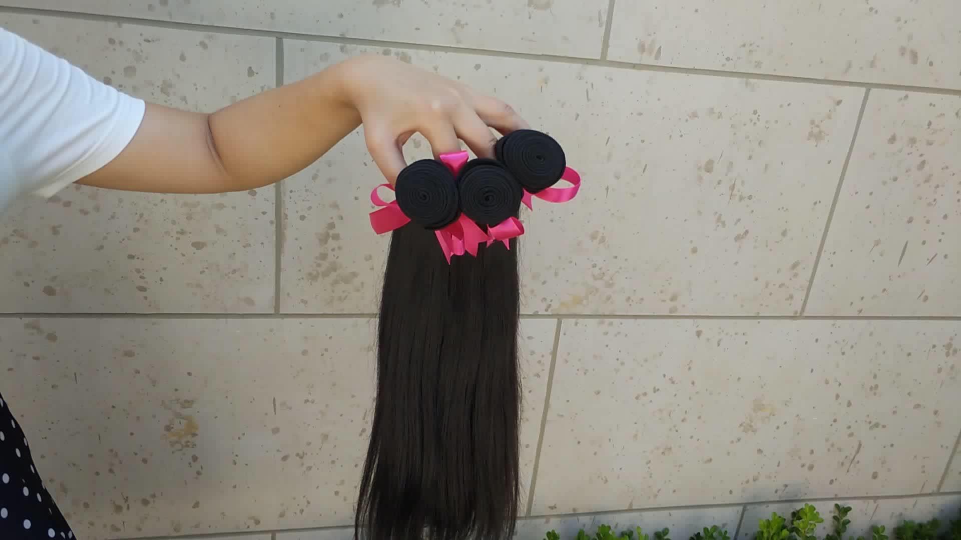 High Quality Yaki Straight Hair Human Hair Weave Bundles Straight