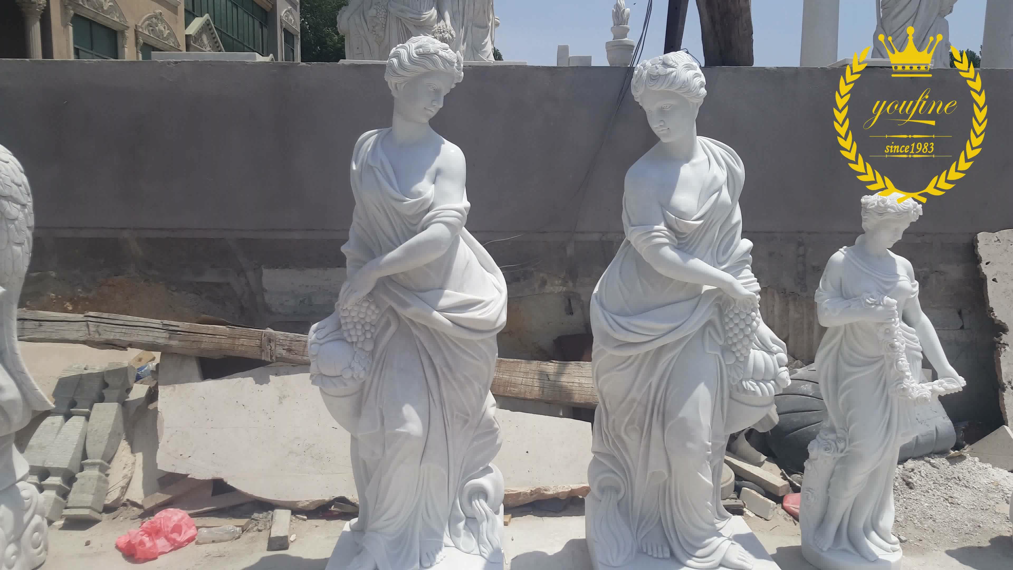 Outdoor Marmeren Gedenkteken Standbeelden Levensgrote Engel Standbeeld