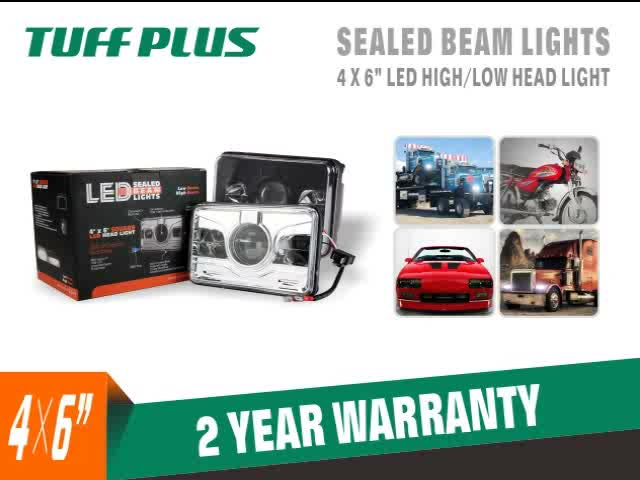 DOT EMARK ECE high low beam tuffplus 4*6 led headlight for trucks