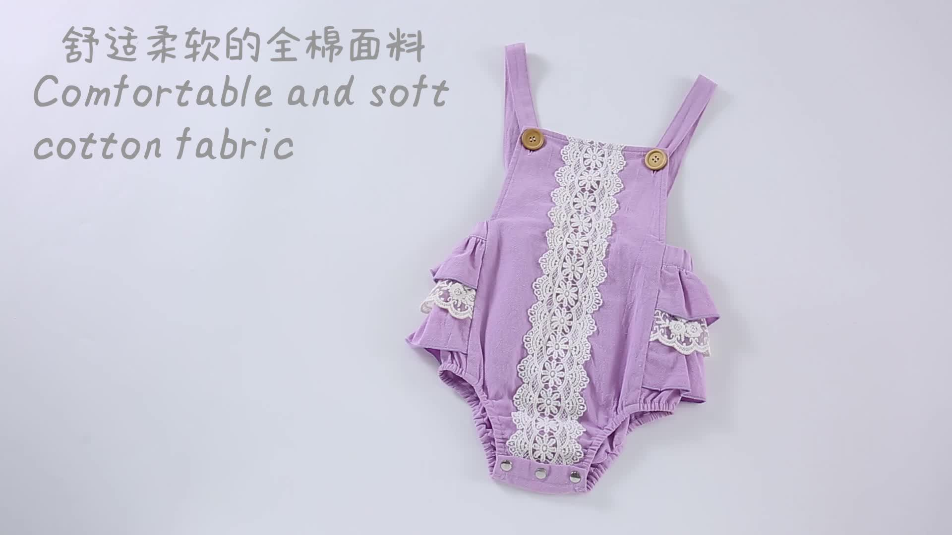 Newborn baby girl clothes Infant and toddlers Baby clothing 100% cotton lace baby romper