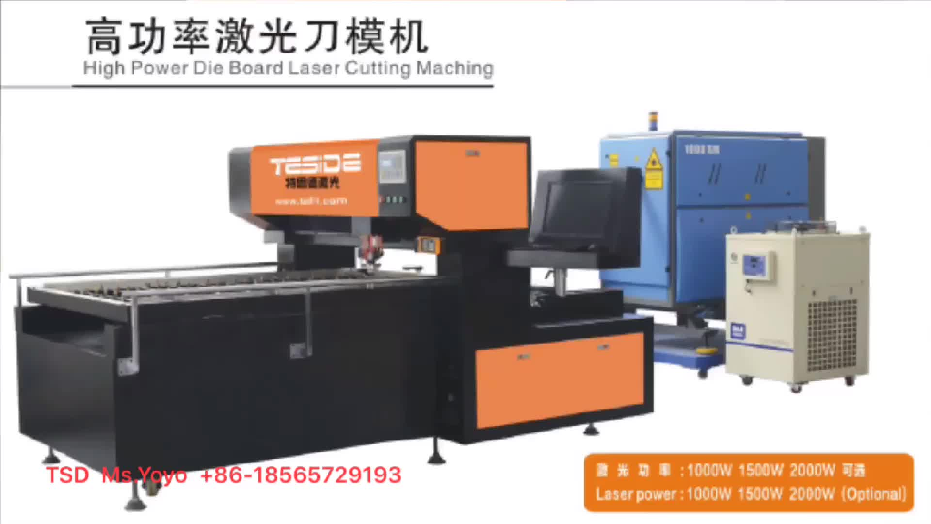 High power board laser cutting machine1000W  tsd laser equipment die  cutting machinery