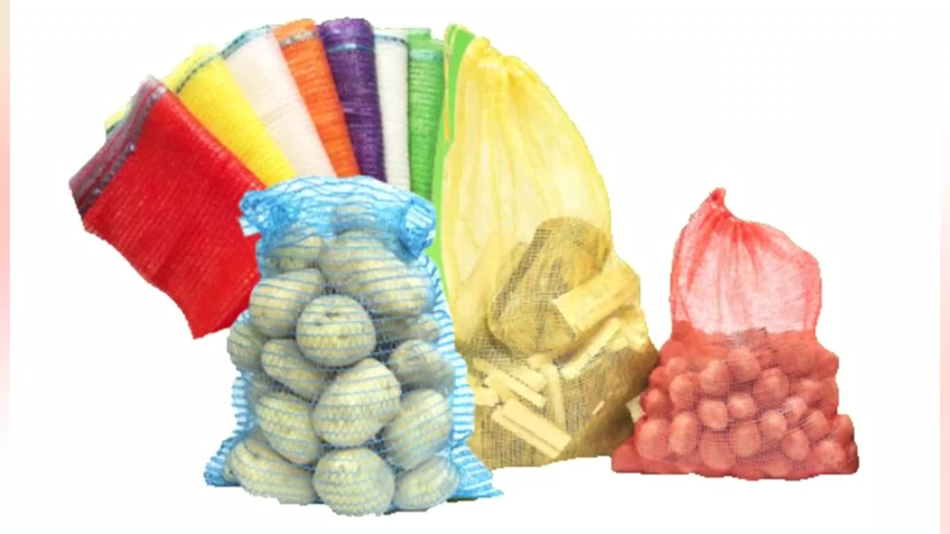 कच्चे सामग्री 20 kg 30 kg 50 kg लाल बुना polypropylene पीपी लीनो प्याज जाल बैग
