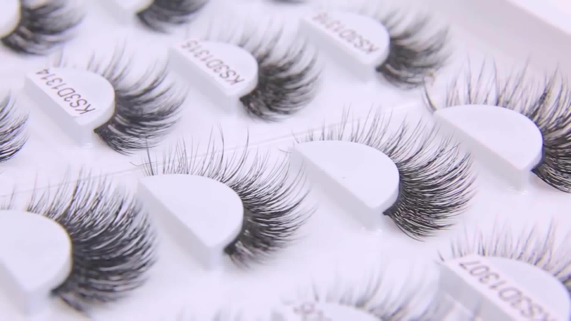 En gros nouveau style marque privée coréen doux cils 3D faux vison faux cils