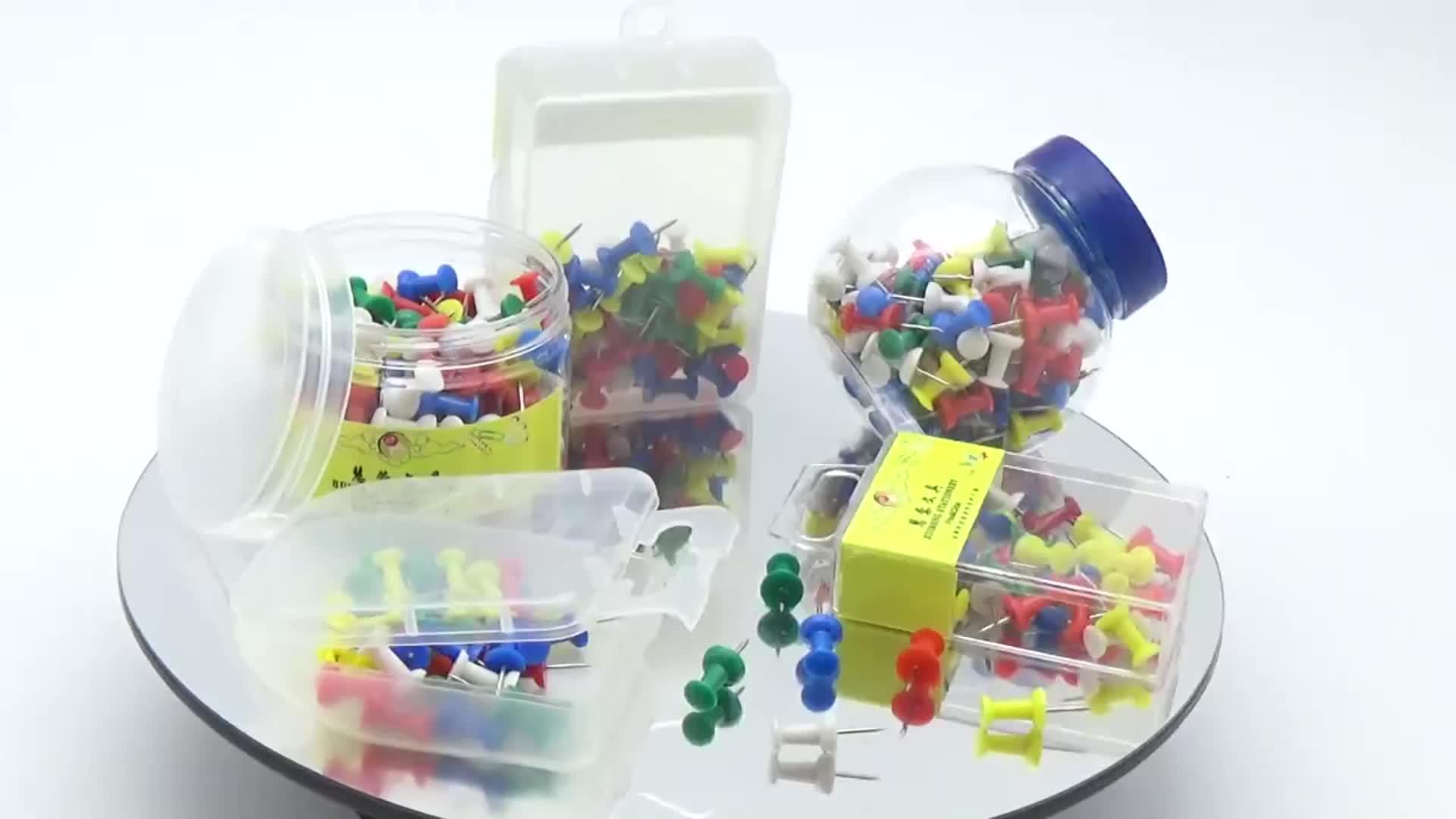 School kleurrijke reizen 3 kleuren decoratieve multi-gekleurde thuis voor kaart primaire pins push pin kleur