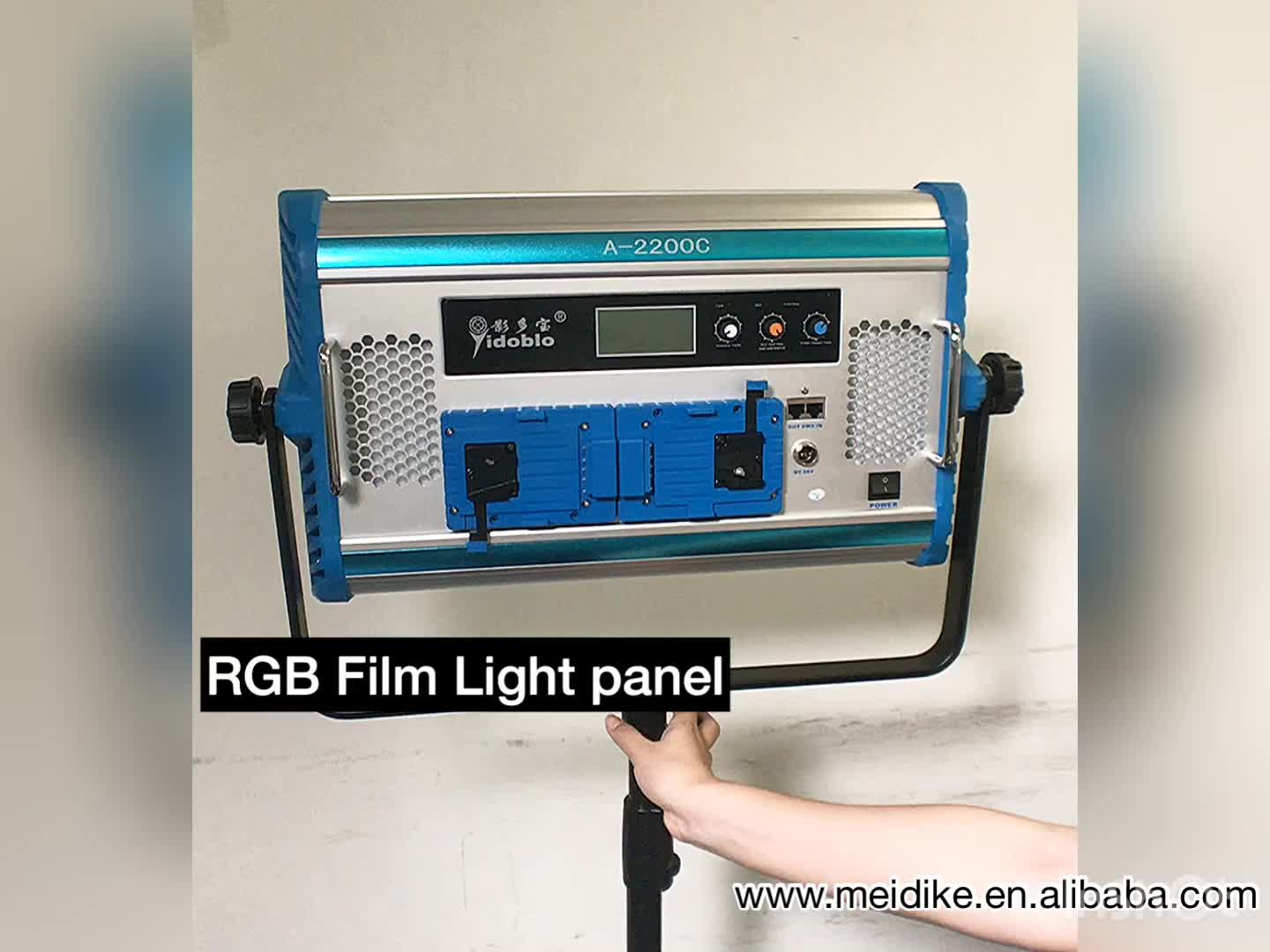 Foshan yidoblo A2200C 140 W RGB + W LED LED panel light met Lcd-scherm Telefoon App Afstandsbediening als arri video cinema apparatuur