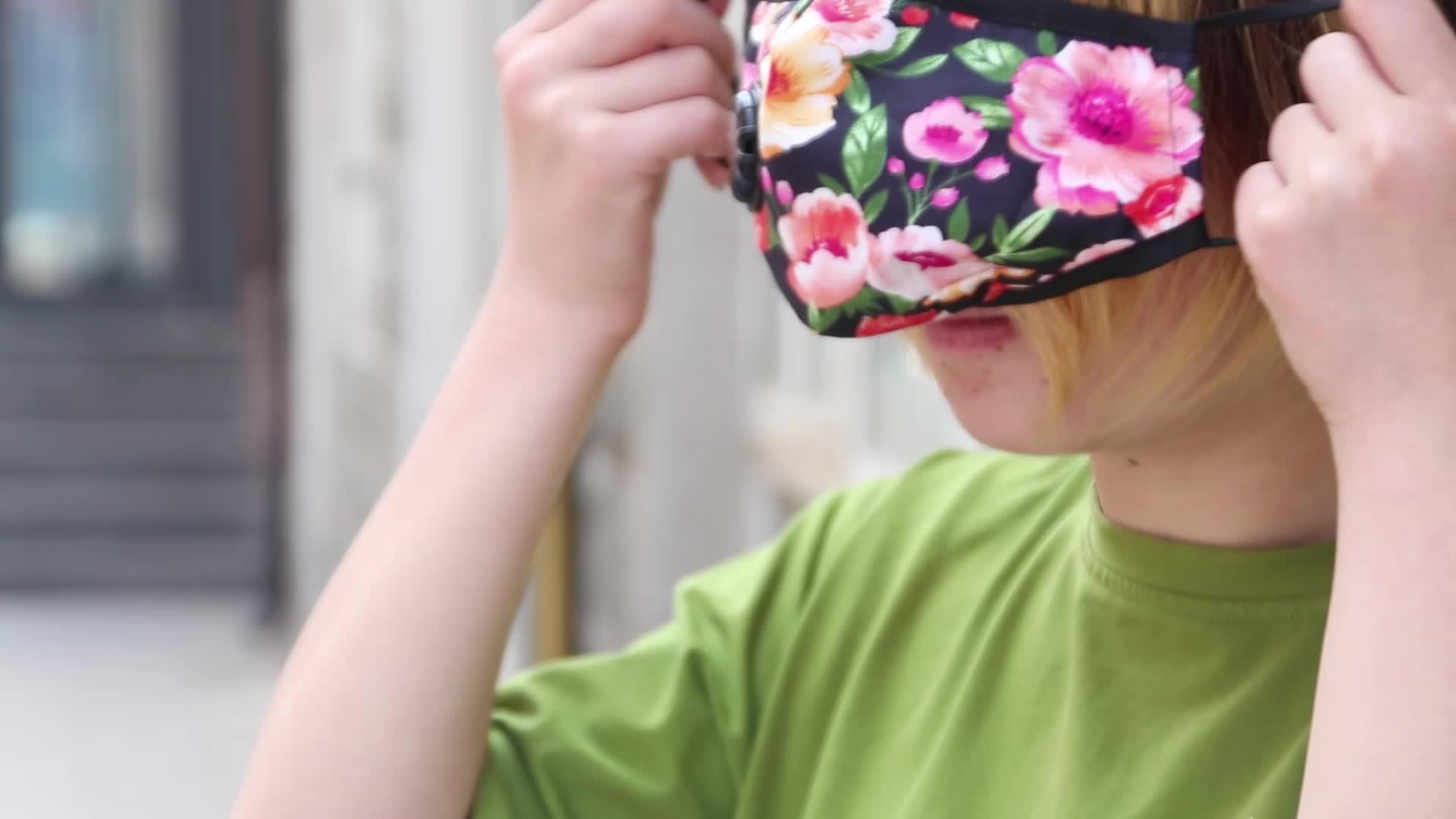 China fabriek OEM katoen gezichtsmasker/mond moffel