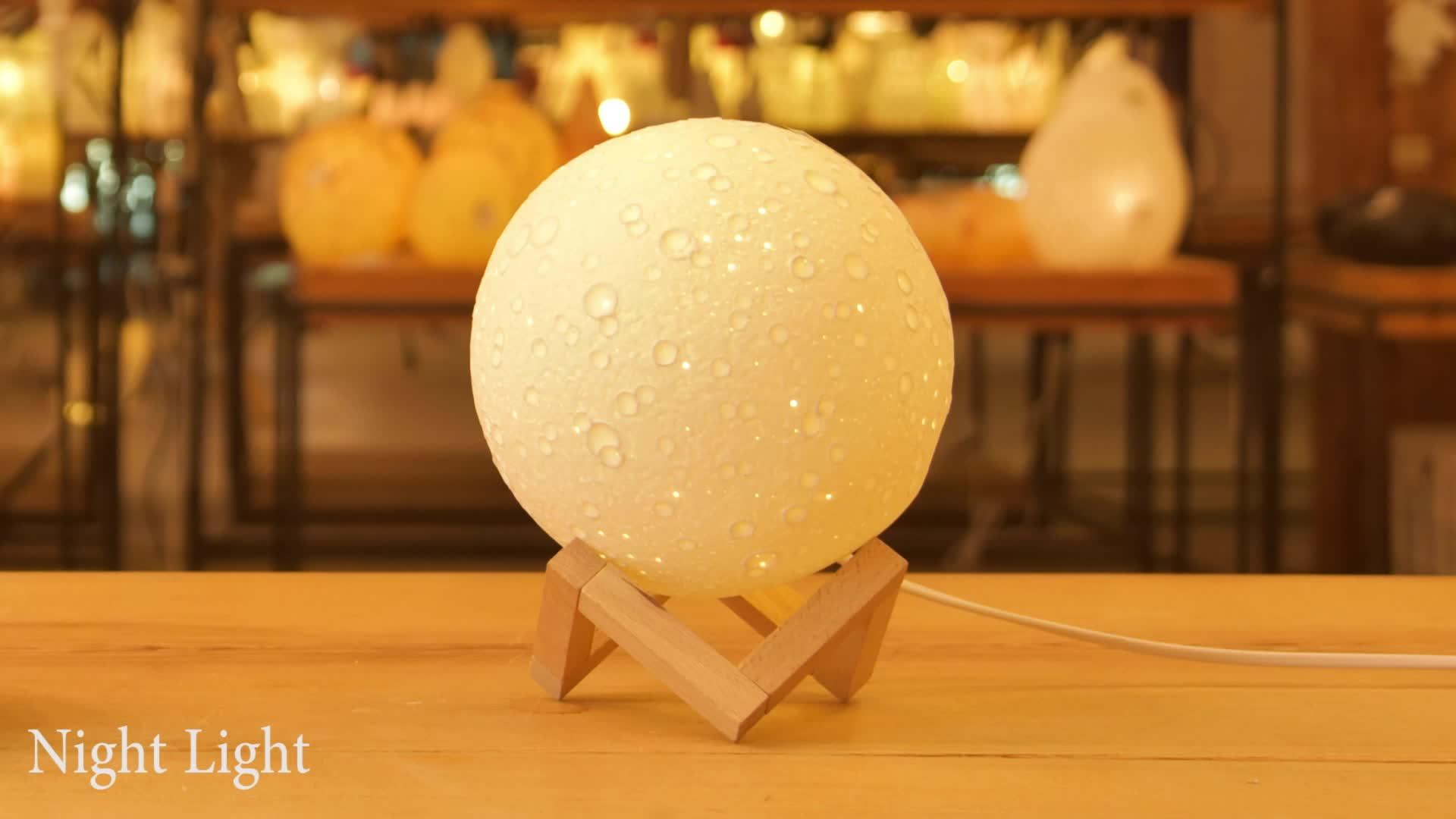 クリエイティブデザインセラミック満月の夜ランプ誕生日結婚式の好意のギフト