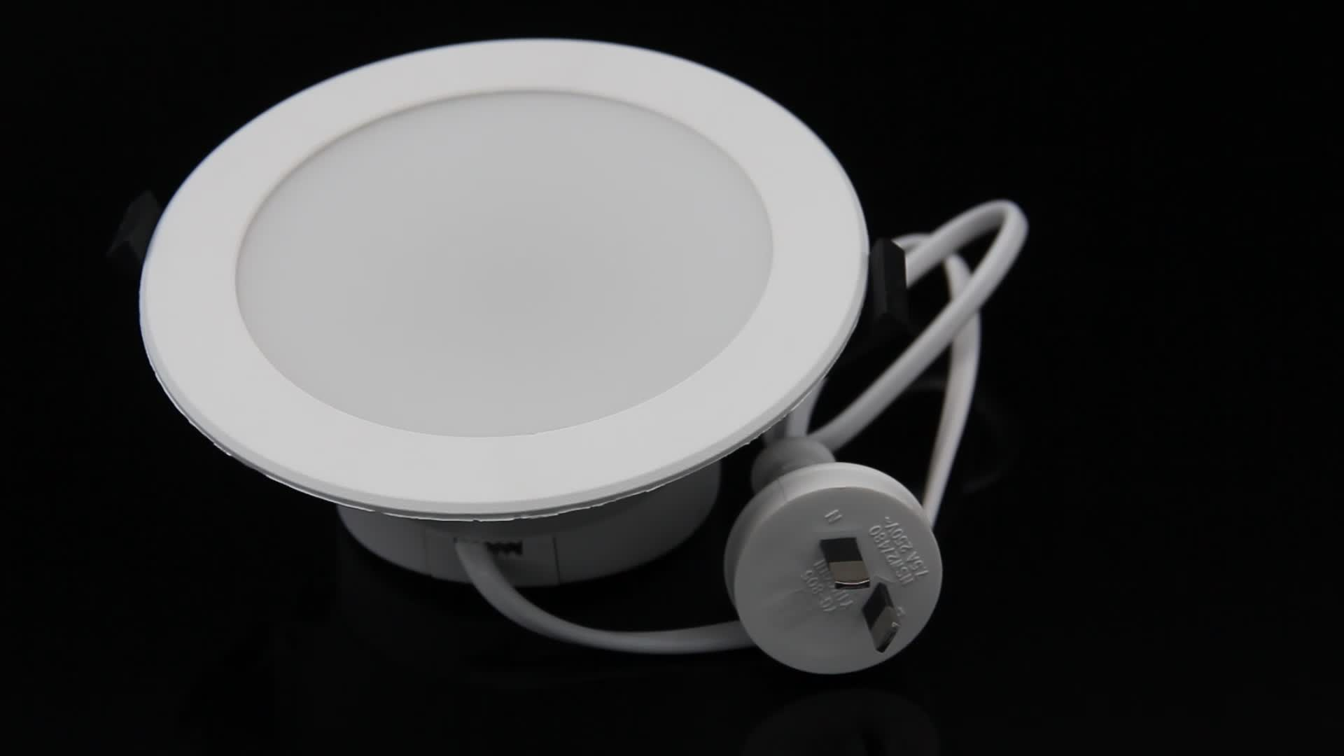 Led downlights australian standard SAA approved smart wifi RGBW led downlights, voice controlled by Alexa