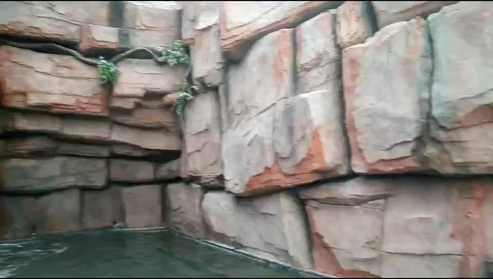 Guangzhou fabricaci n de fibra de vidrio de roca for Cascada artificial jardin
