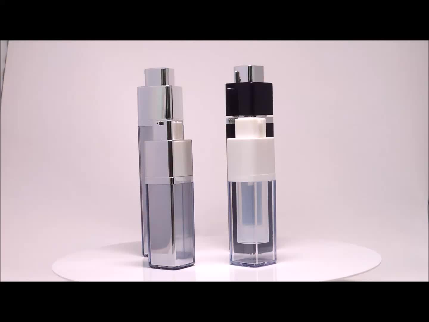 Empty retractable twist up aluminum perfume spray bottle 30 ml