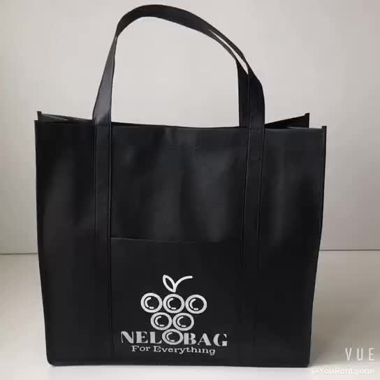 Low price silk screen print 120gsm non woven shopping bag with strong capability